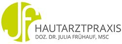 Doz. Dr. Julia Frühauf, MSc – JF Hautarztpraxis Logo